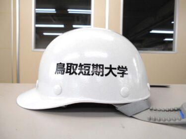 ヘルメット 名入れ作成【鳥取短期大学様】
